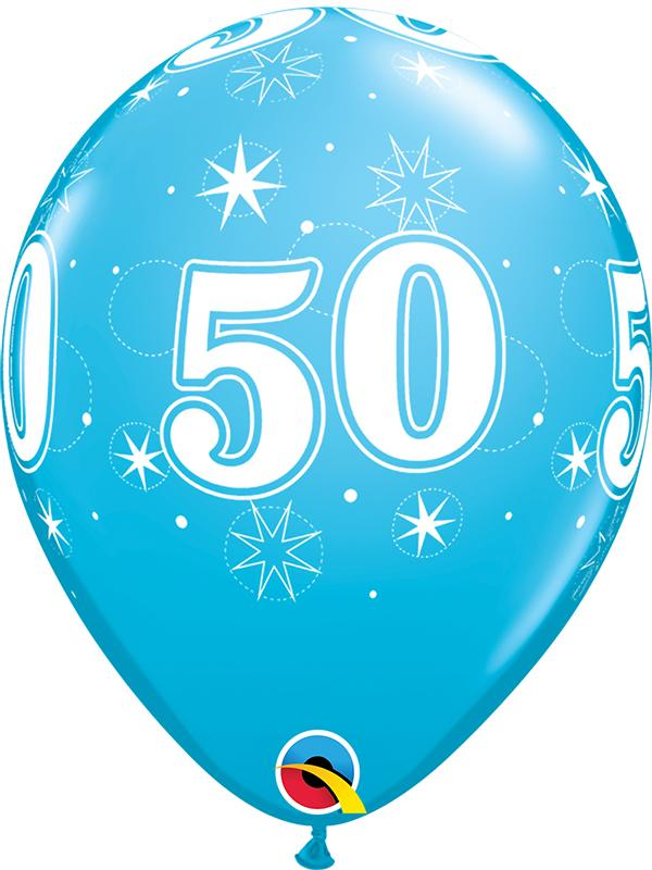 Latex Balloons Blue Age 50