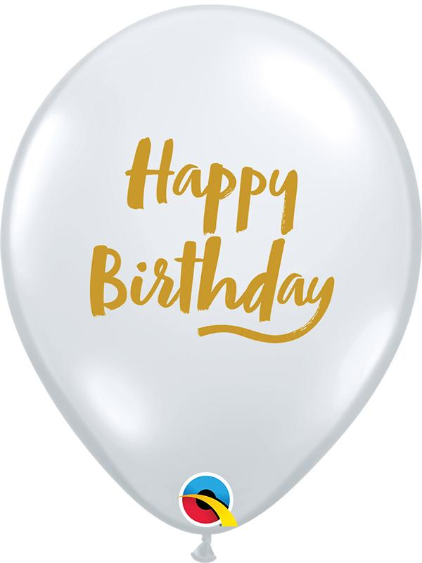 Latex Balloons Birthday Diamond Clear