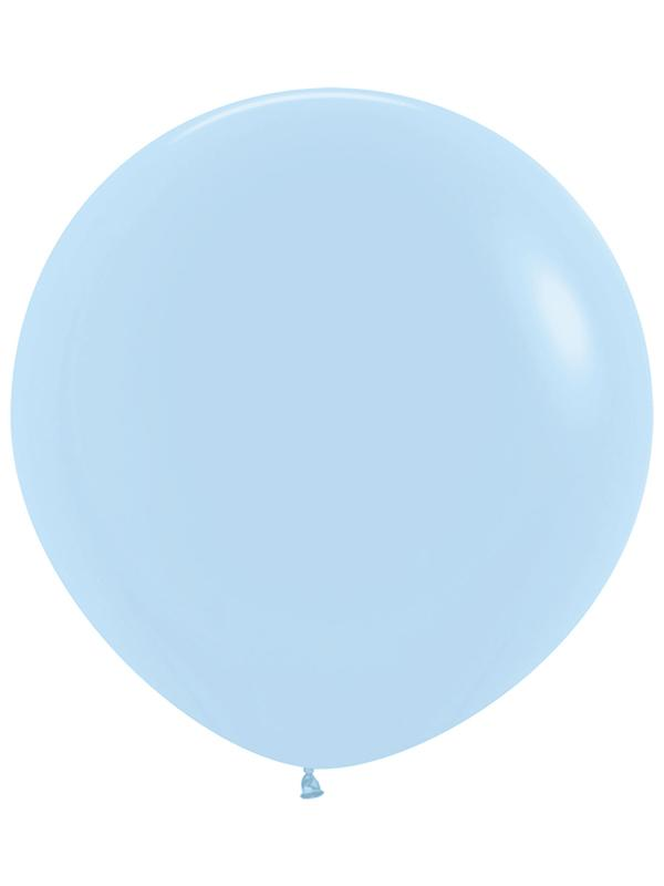 Large Latex Balloon Pastel Matte Solid Blue