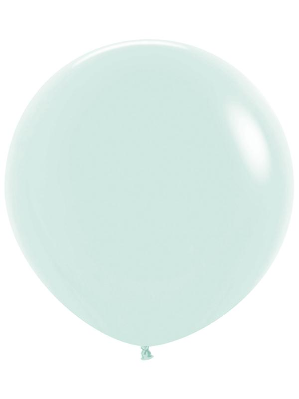 Large Latex Balloon Pastel Matte Solid Green