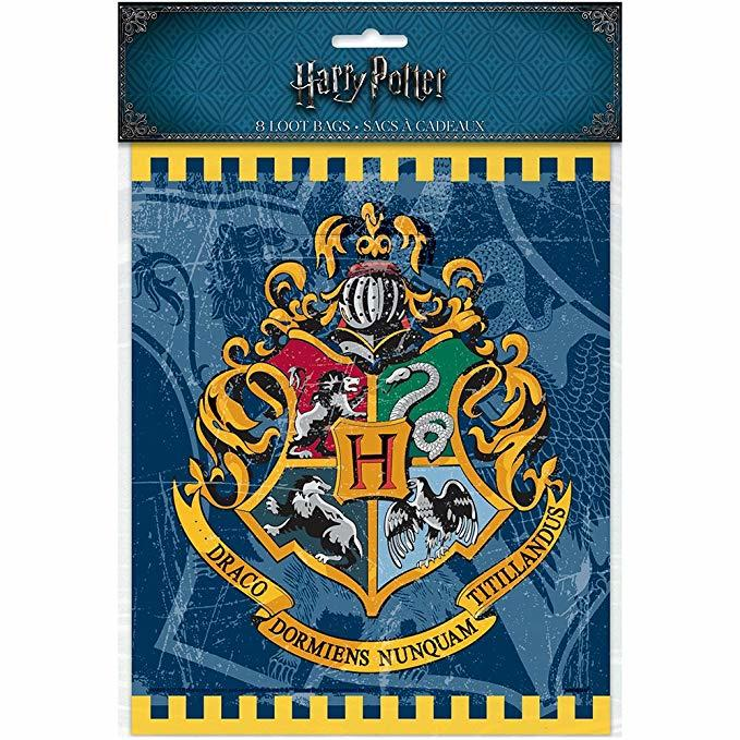 Plastic Party Loot Bags Harry Potter