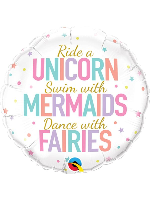 Foil Balloon Mermaids Unicorns Fairies