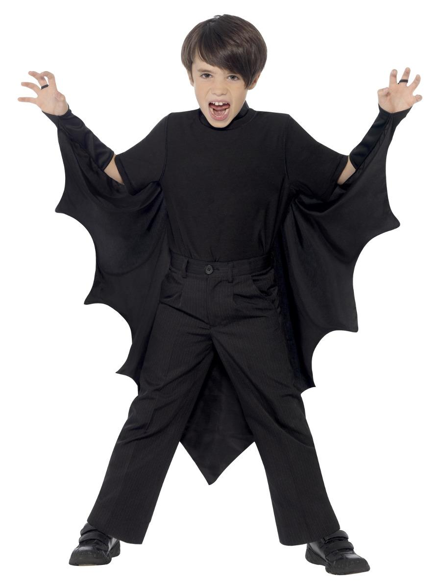 Kids Vampire Bat Wings Black