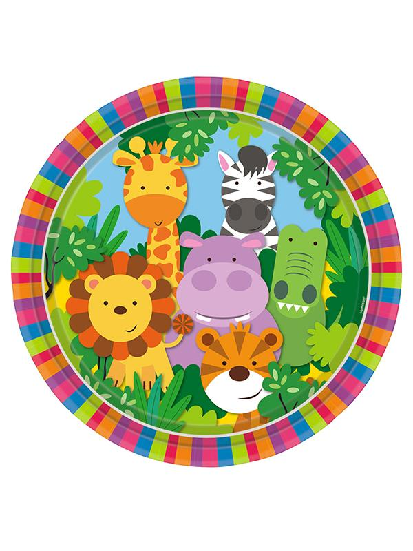Paper Plates Jungle Friends