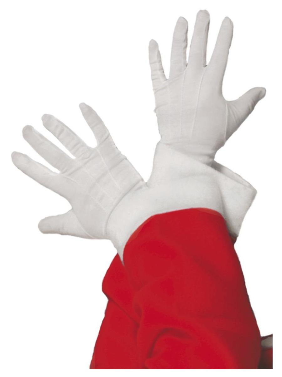 Santa Gloves White