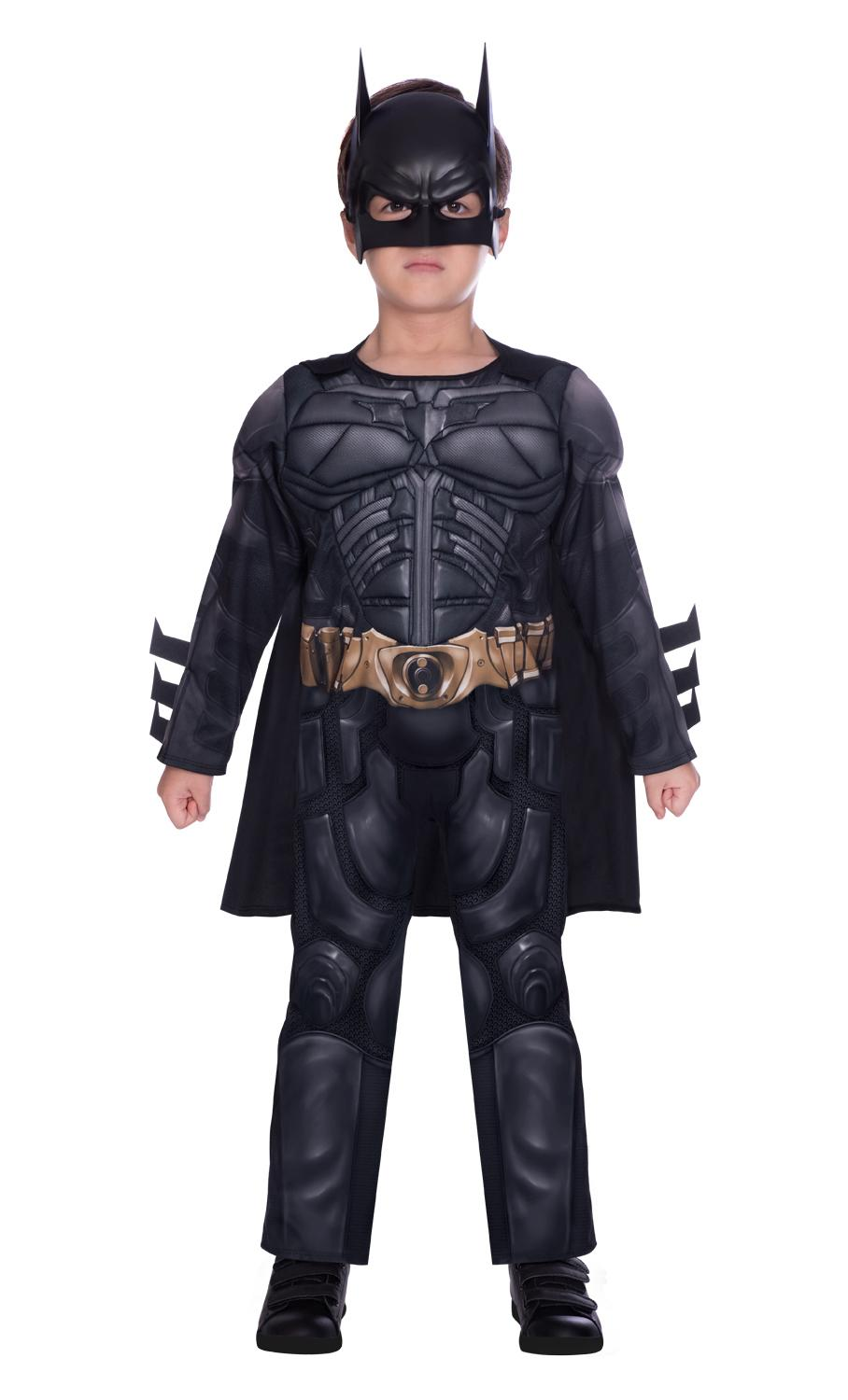 Kids Classic Dark Knight Batman Costume Black