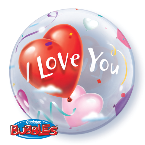 Bubble Balloon I Love You Hearts