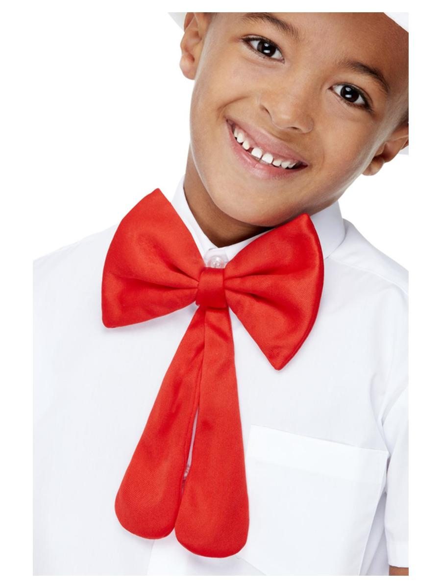 Kids Large Bow Tie Red