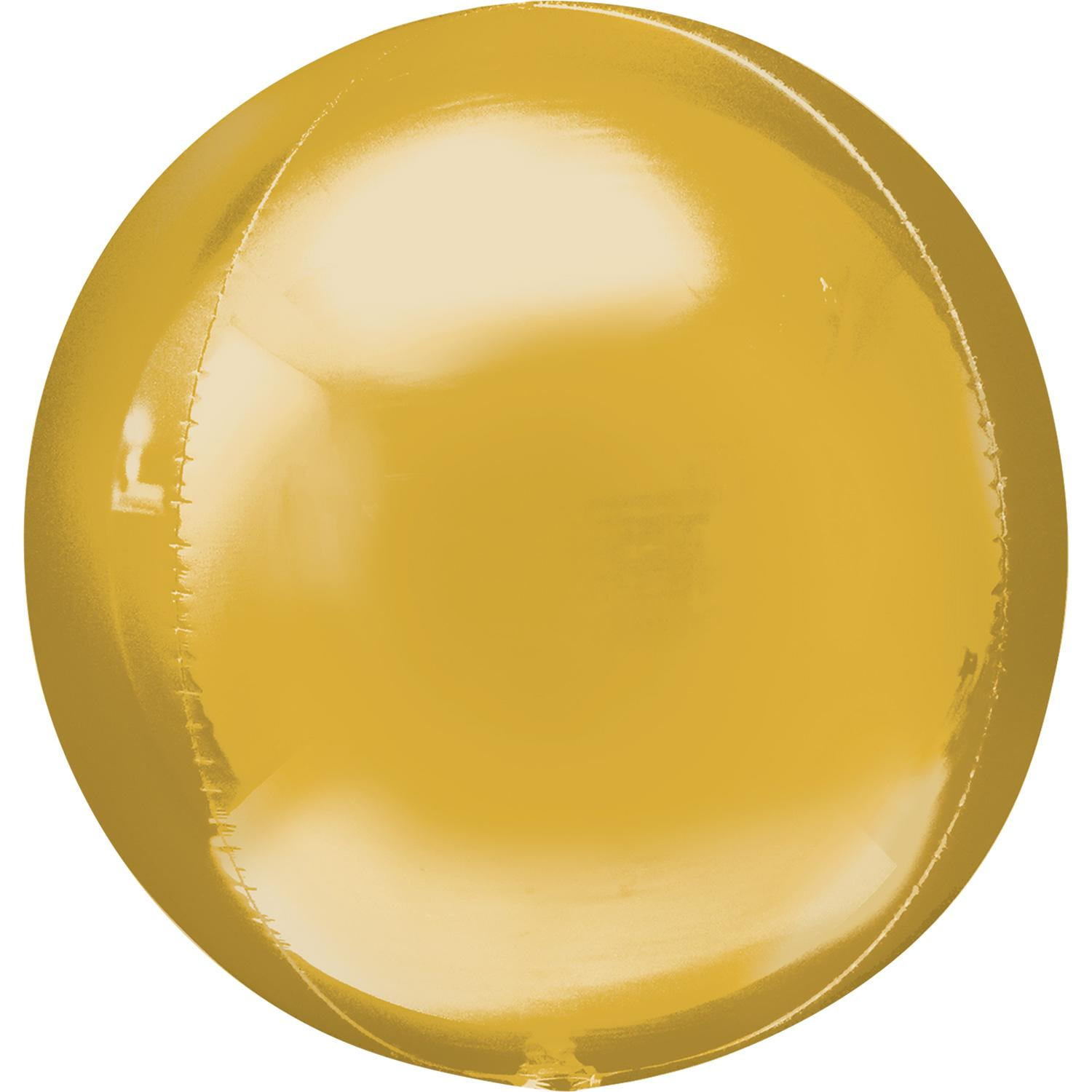 Orbz Foil Balloon Metallic Gold