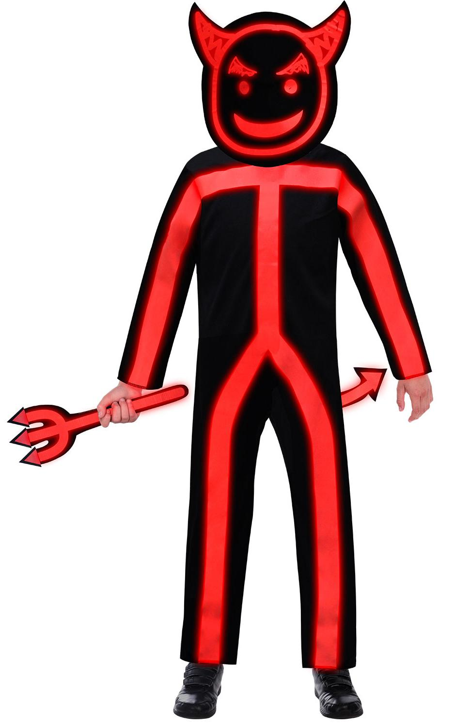 Kids Glow in the Dark Stick Devil Costume