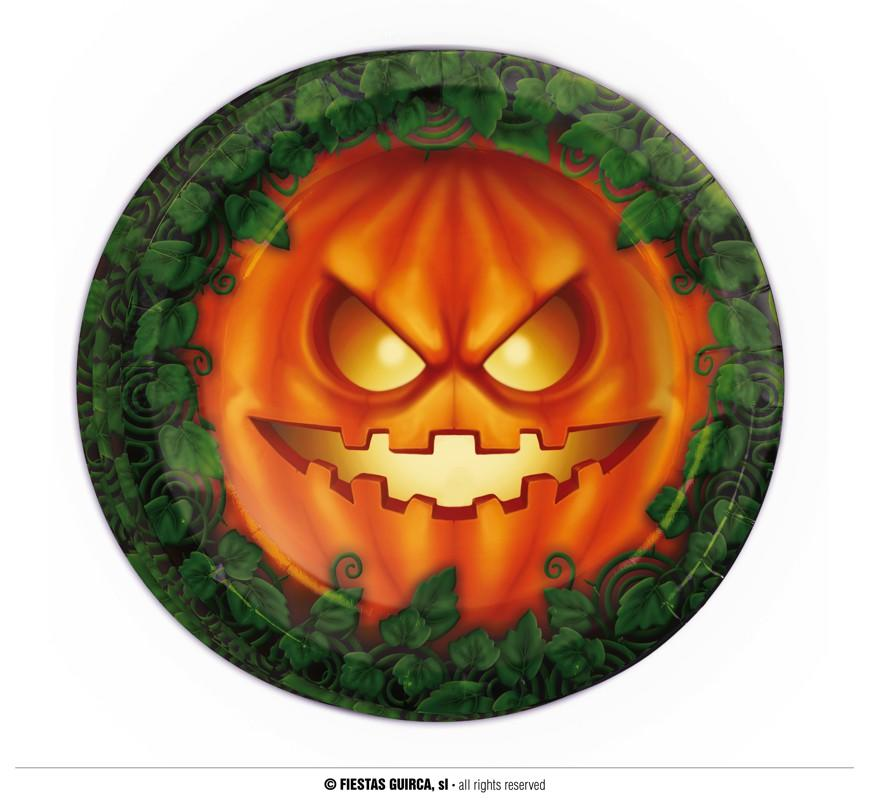 Halloween Pumpkin Paper Plates pack of 8