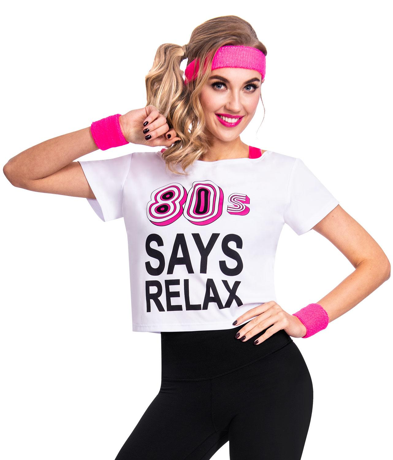 80s Says Relax T-Shirt White