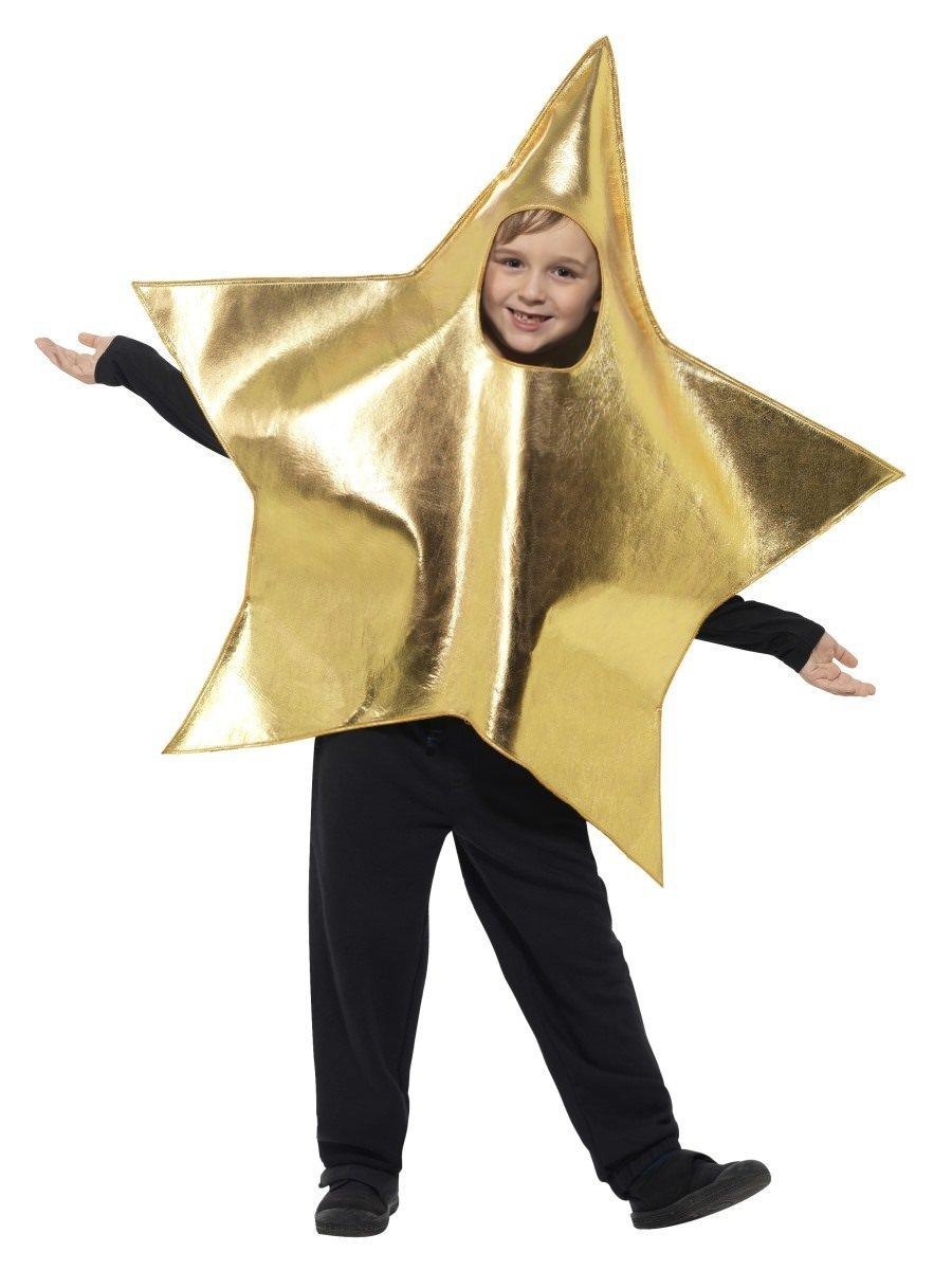 Kids Shining Star Costume Gold