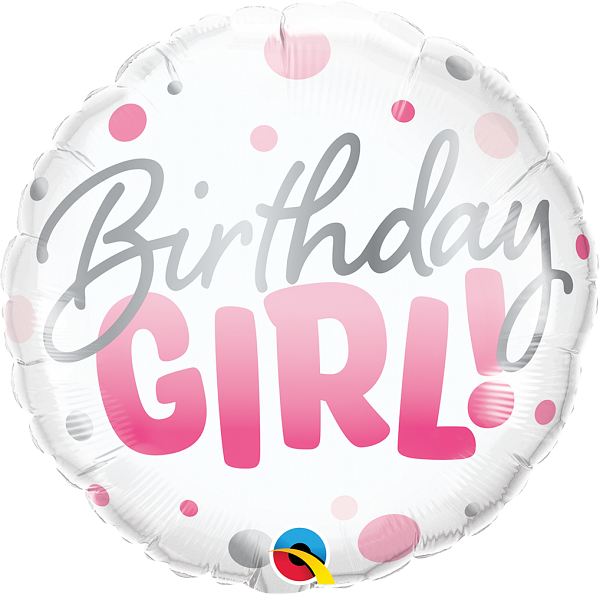 Foil Balloon Birthday Girl Pink