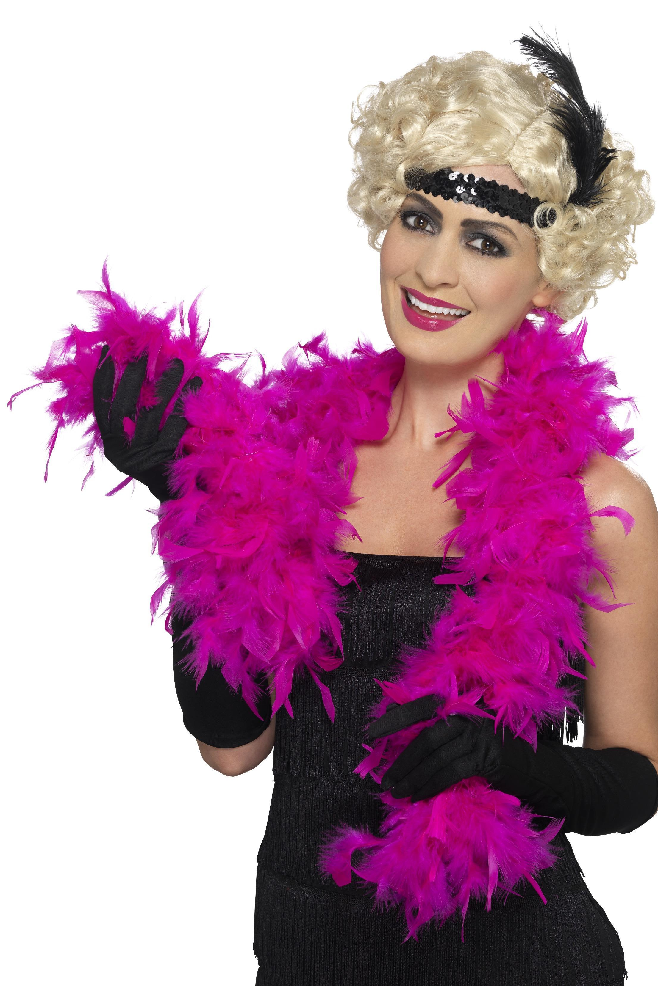 Hot pink feather boa