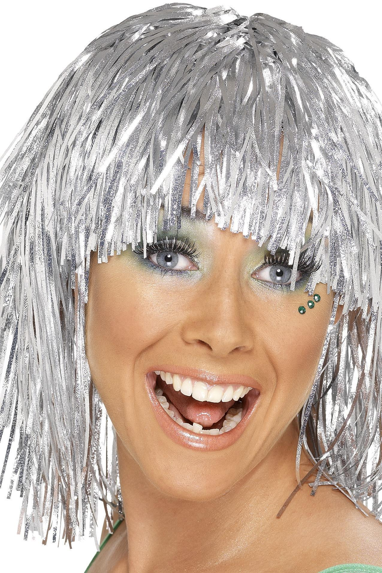 Cyber Tinsel Wig Silver