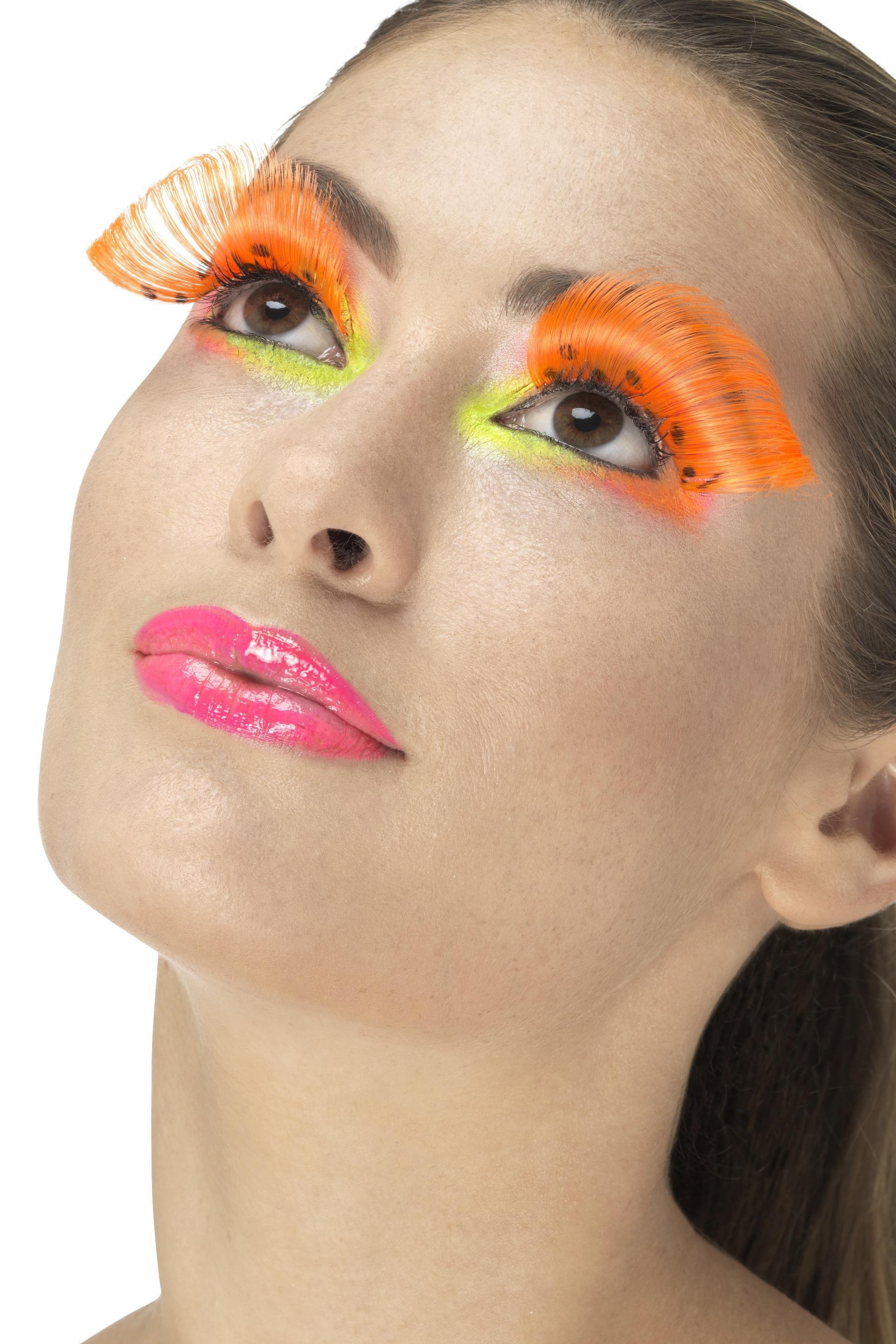 Polka Dot Eyelashes Neon Orange