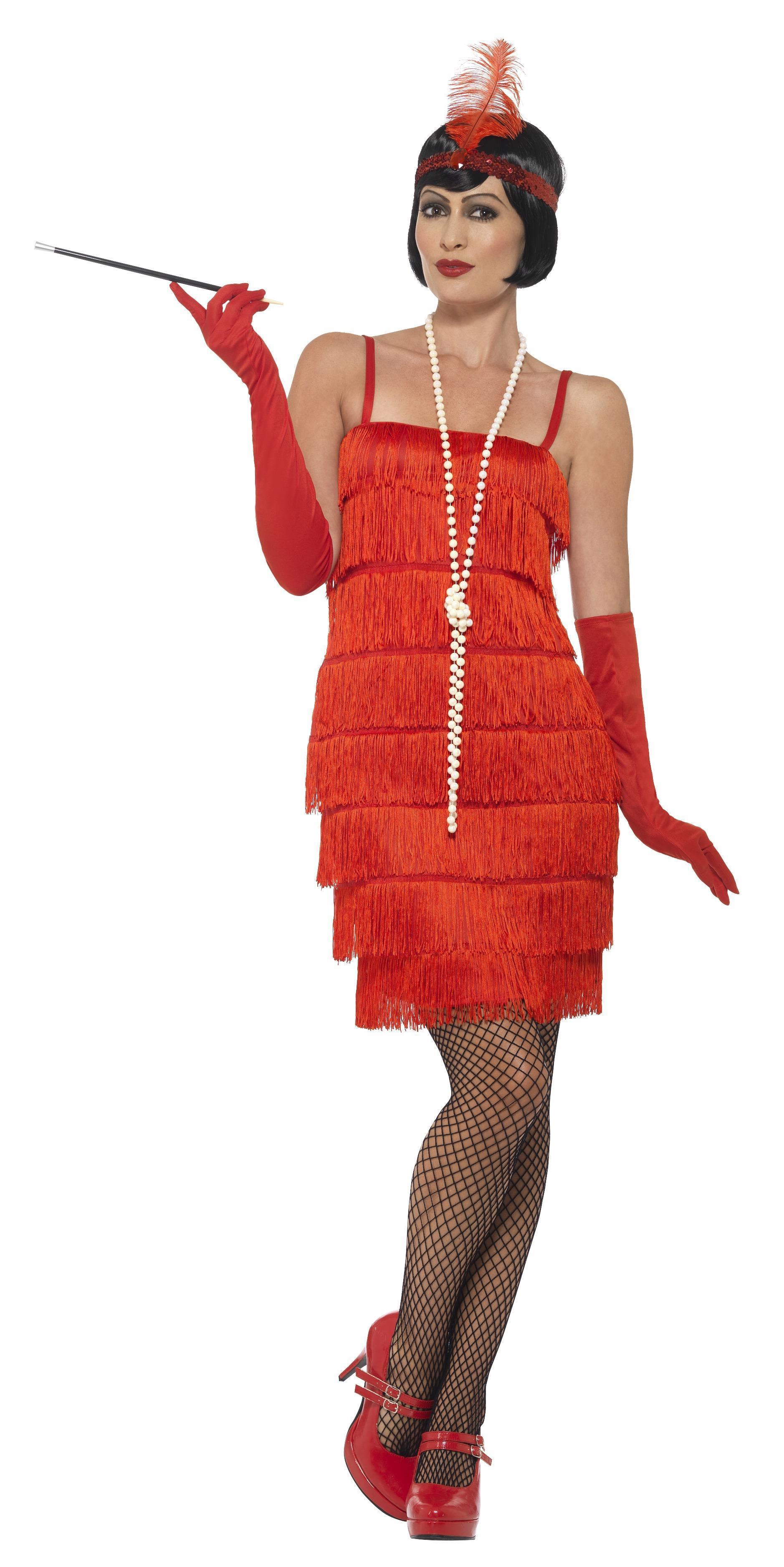 1920s Flapper Costume Red