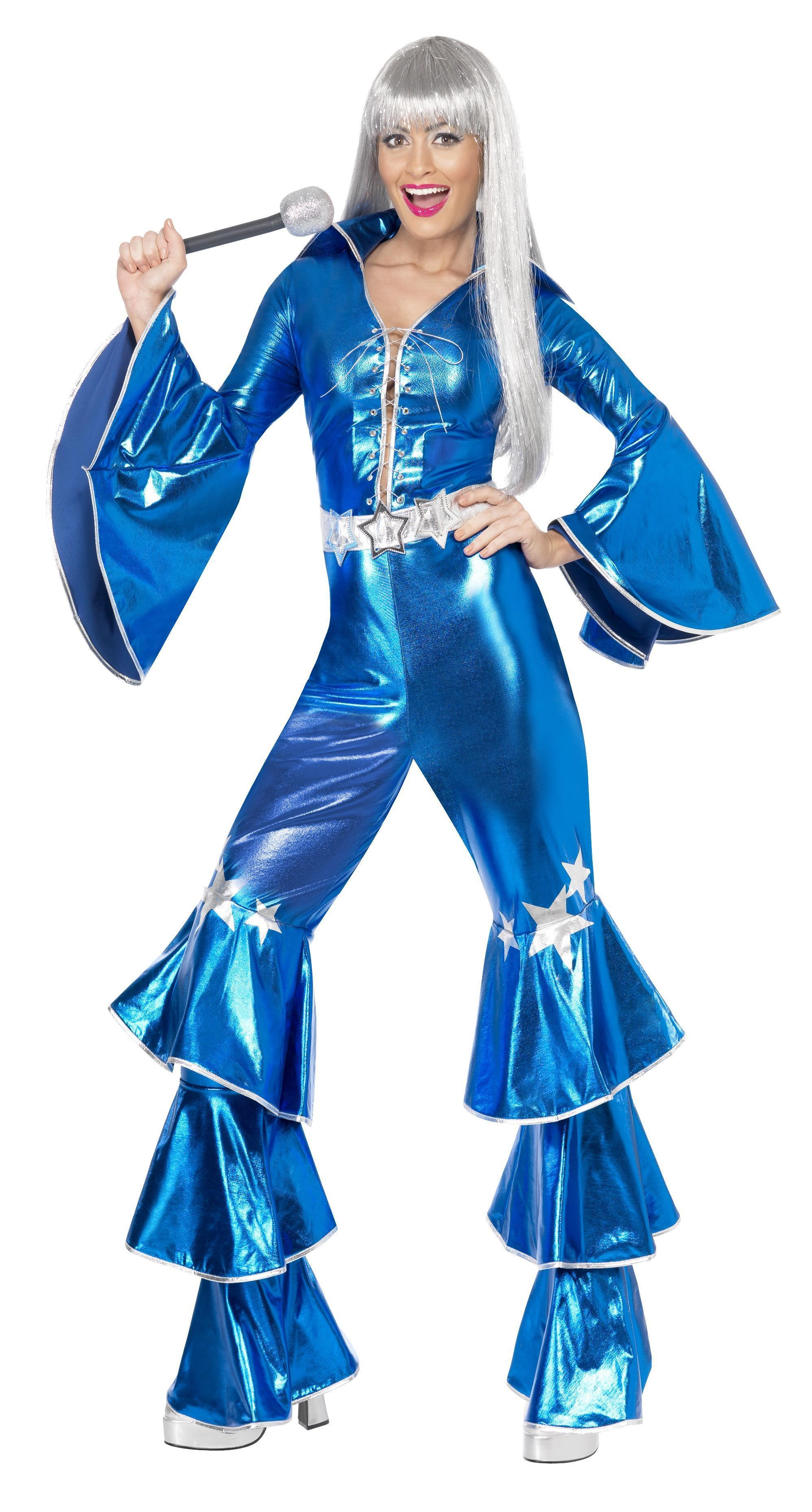 70s Dancing Dream Costume Blue