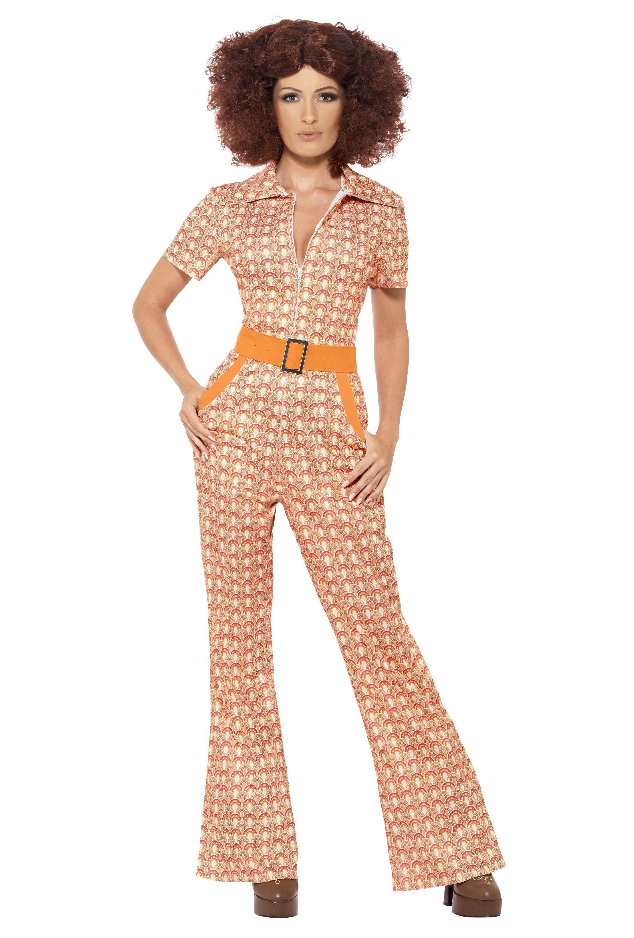 70s Authentic Chic Costume Orange