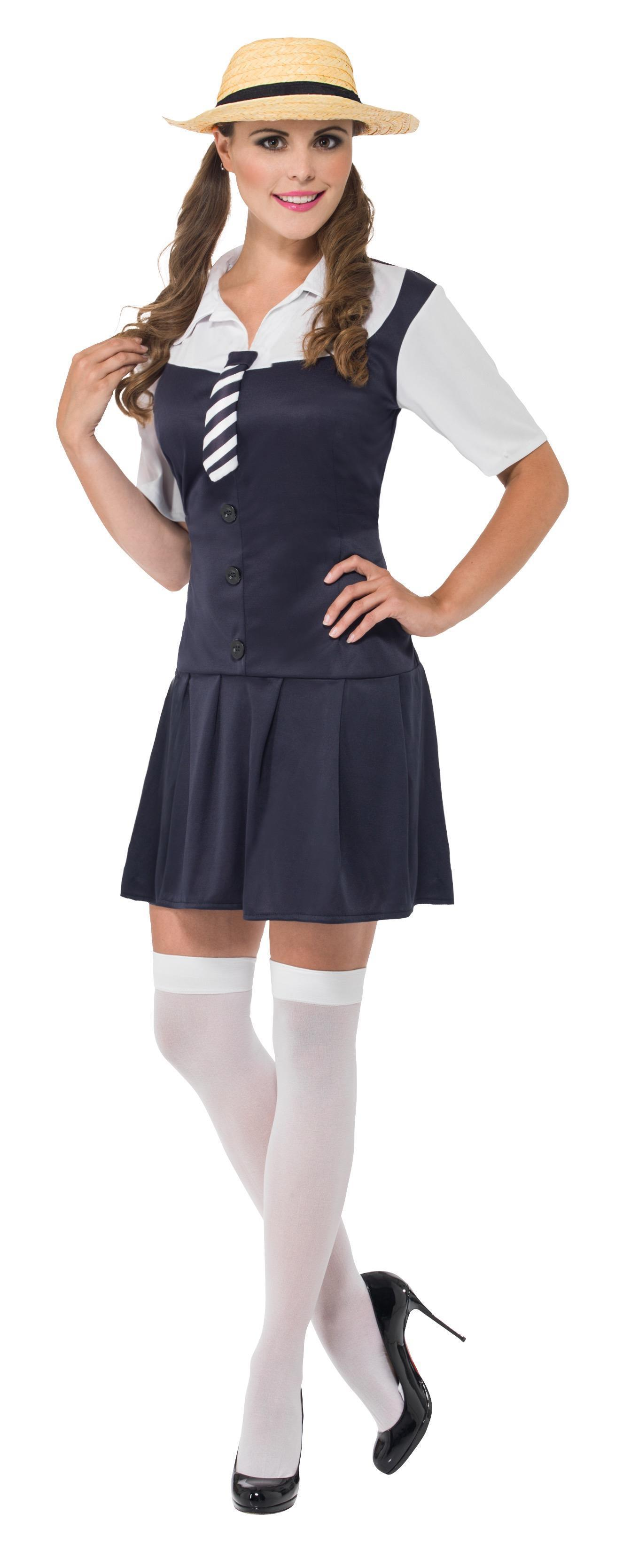 School Girl Costume Dark Blue