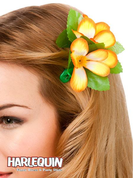 Hawaiian Hair Clip Orange & Yellow