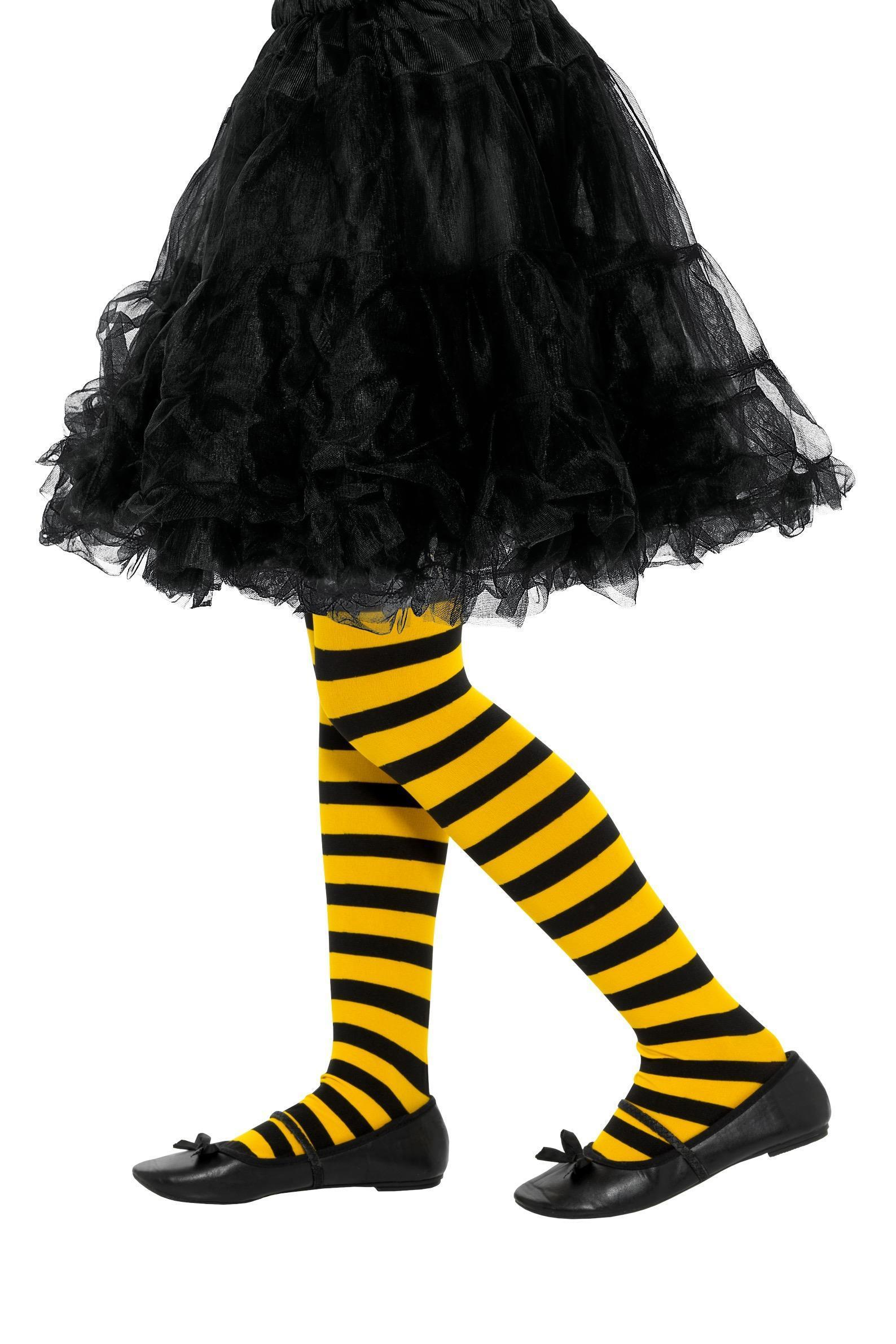 Bee Stripe Tights Age 6-12
