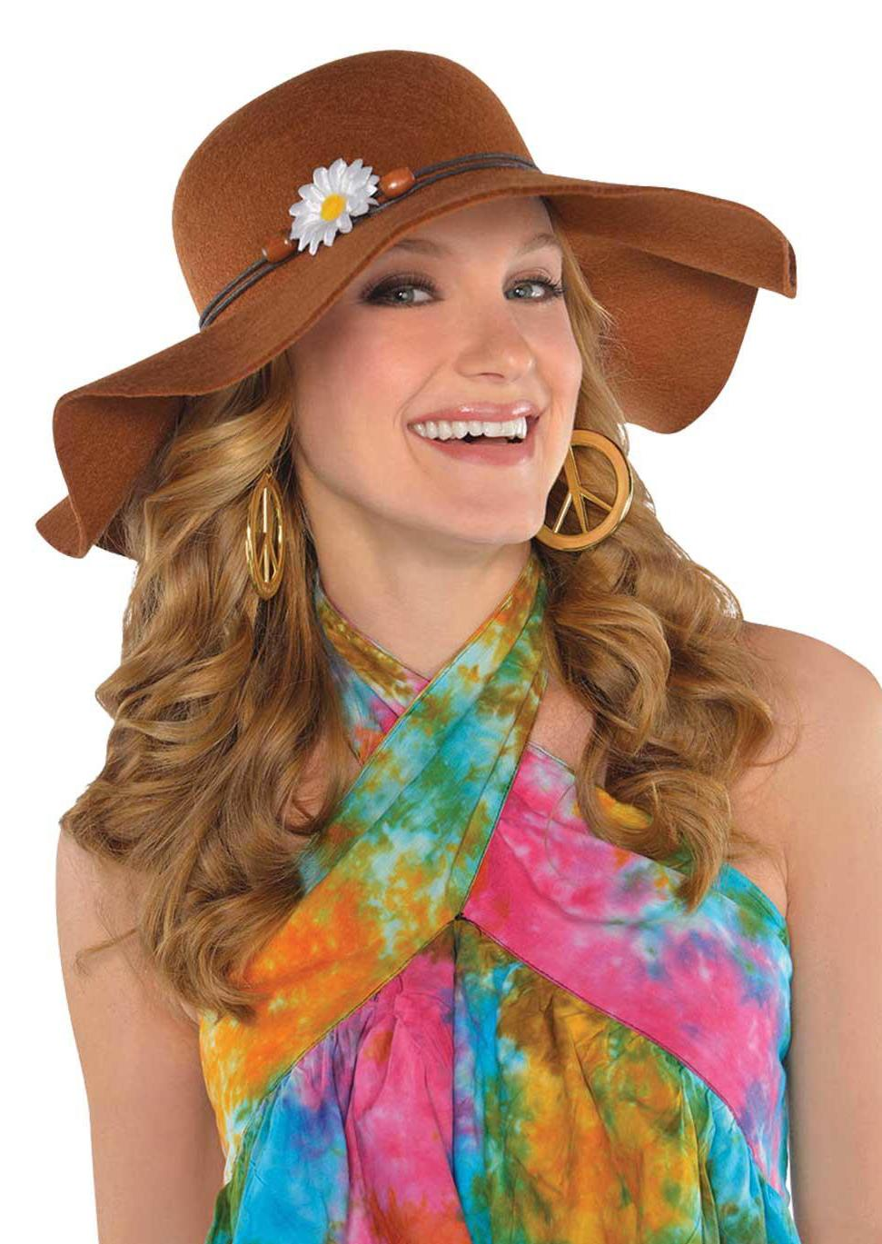 1970s Floppy Festival Hat Brown