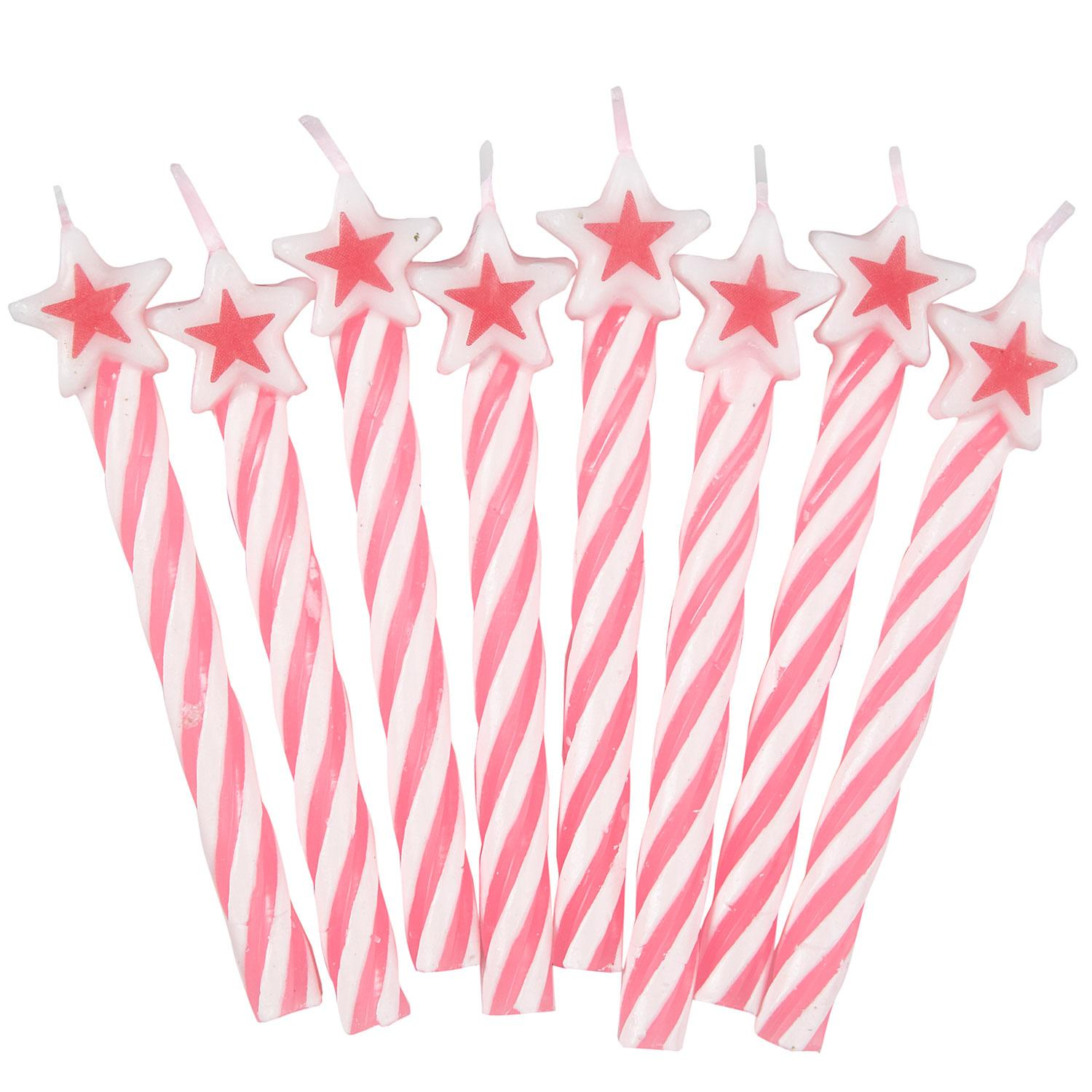 Star Candles Pink