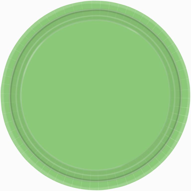 Paper Plates Kiwi Green 8 Pack