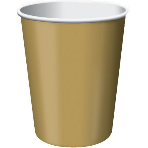 Paper Cups Gold 8 Pack
