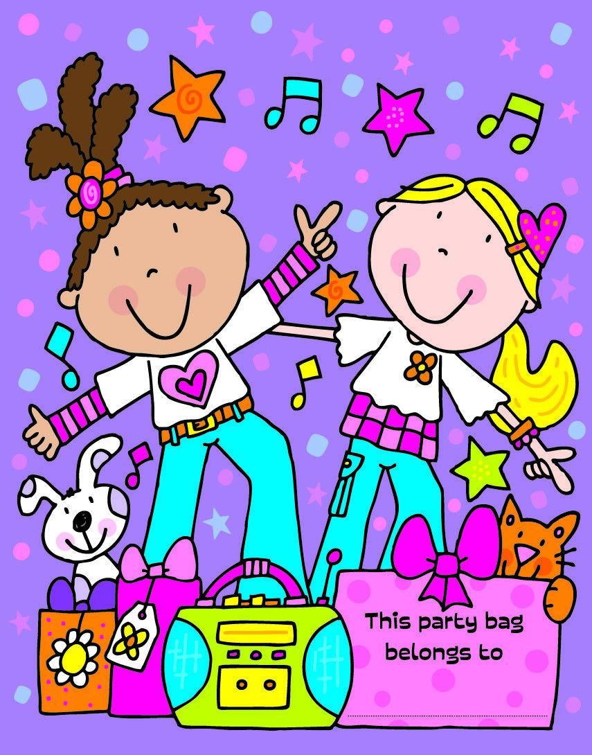 Party Loot Bags Disco 10ct