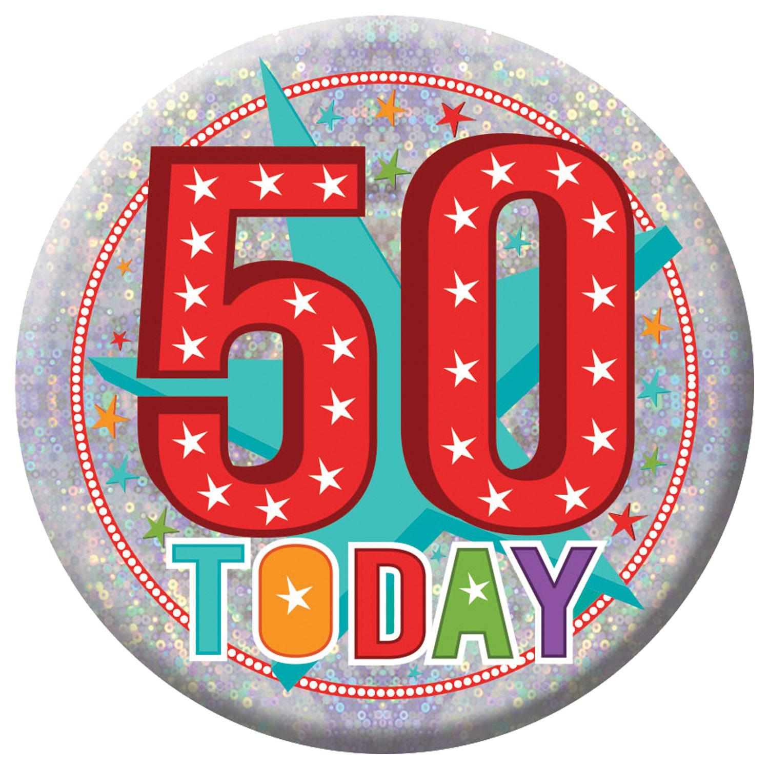 Holographic Badge 50th Birthday