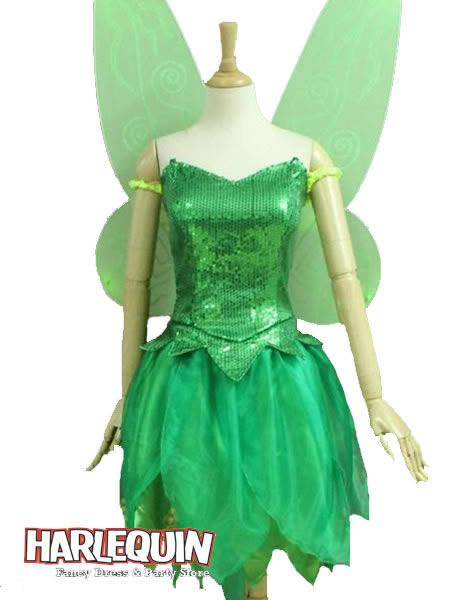 Tinker Bell Sequin Hire Costume