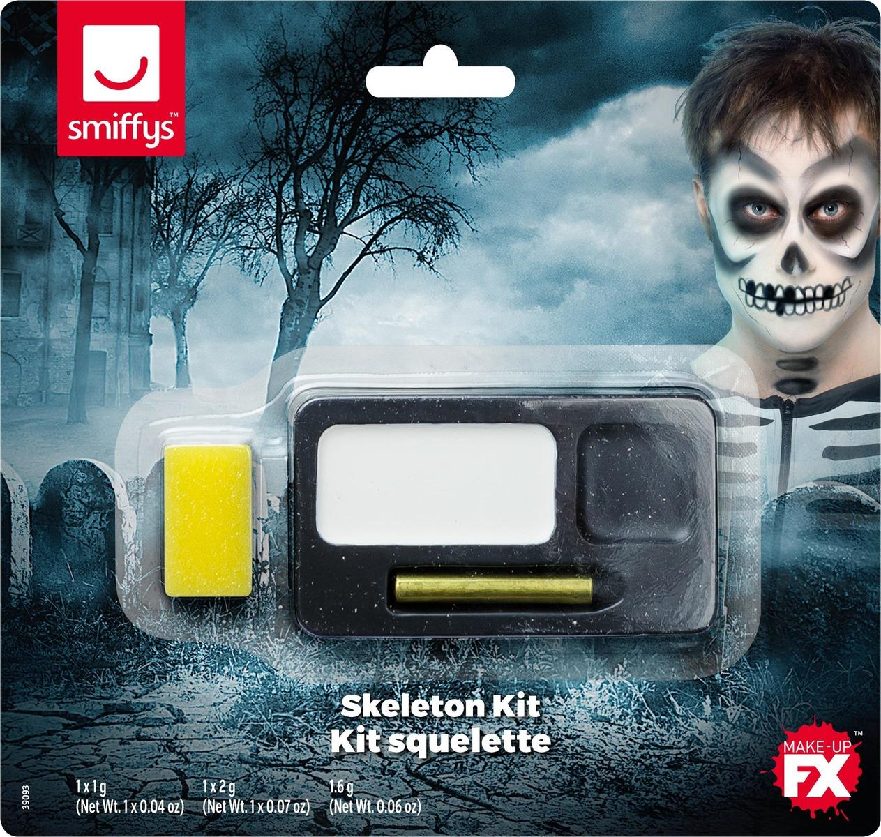Skeleton Make-up Kit Black & White