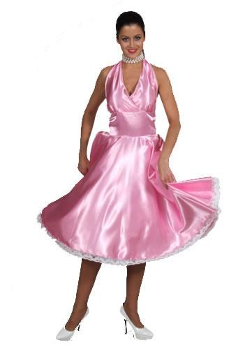 1950s Dress Pink Hire Costume