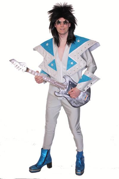 1970s Silver Glam Rocker Hire Costume