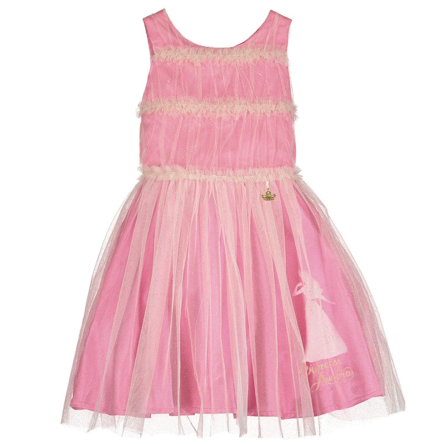Aurora Sleeping Beauty Pink Dress with Ruffle Bodice
