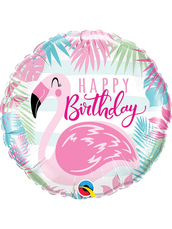 Foil Balloon Birthday Pink Flamingo