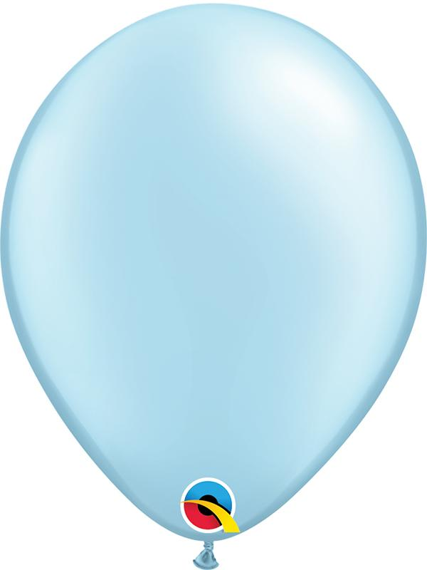 Pearl Latex Balloons Light Blue