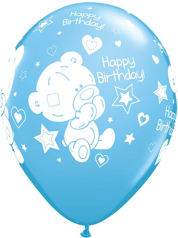 Latex Balloons Tatty Teddy Birthday Blue