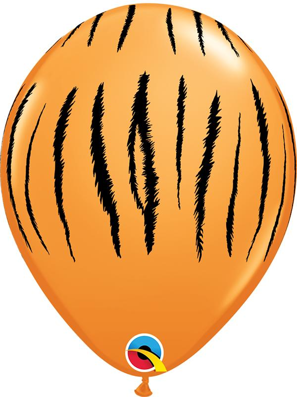 Latex Balloons Tiger Print Orange