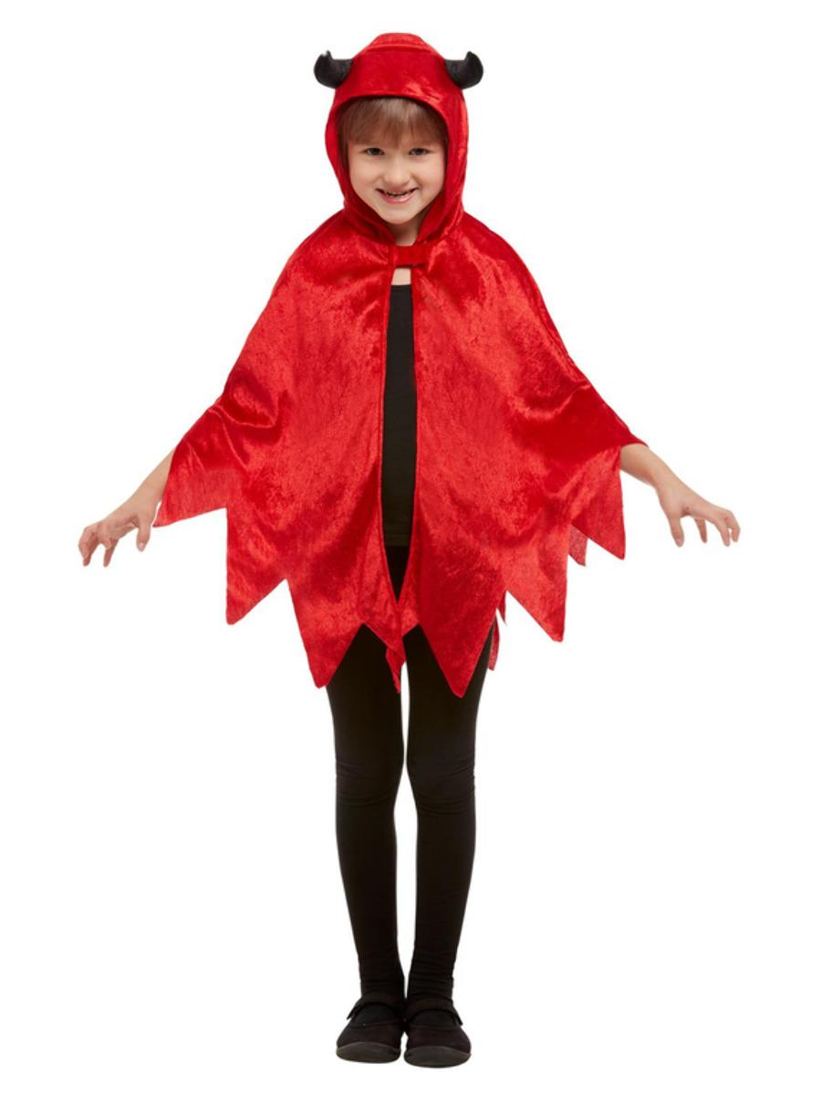 Devil Hooded Cape Red