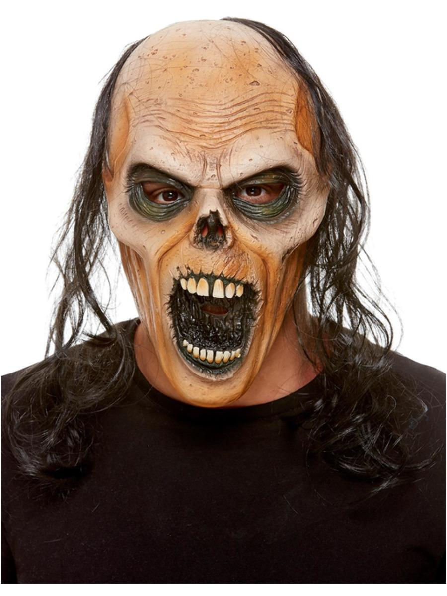 Zombie Latex Mask with Hair