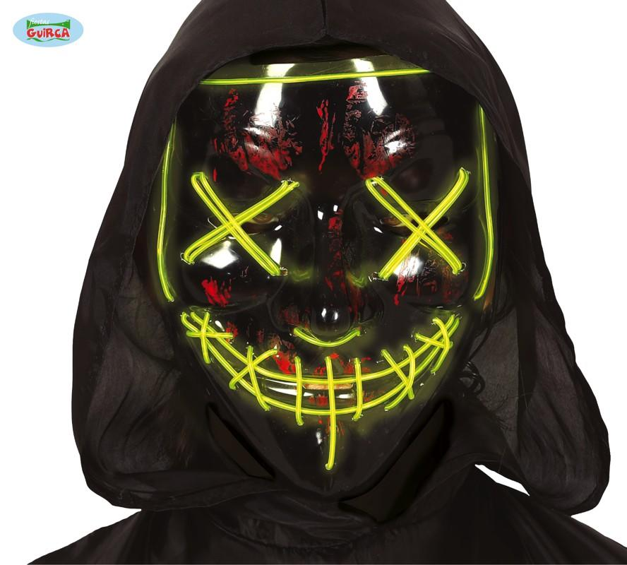 Halloween Mask with LED Black