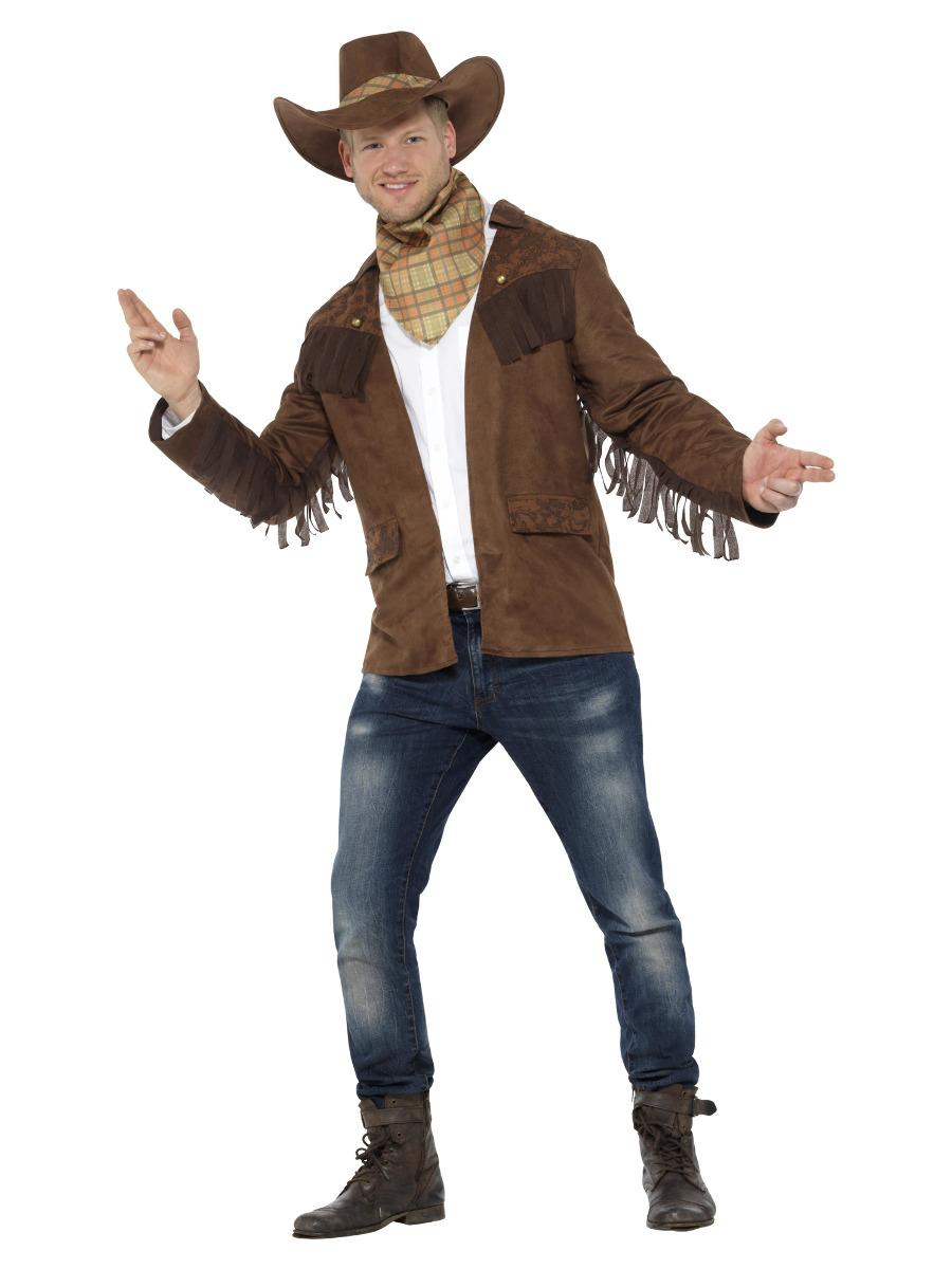 Sheriff Costume Brown with Jacket Hat & Neckerchief