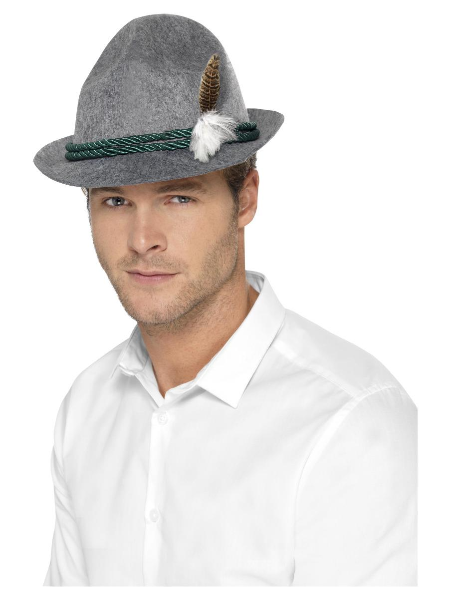 Bavarian Trenker Hat Grey