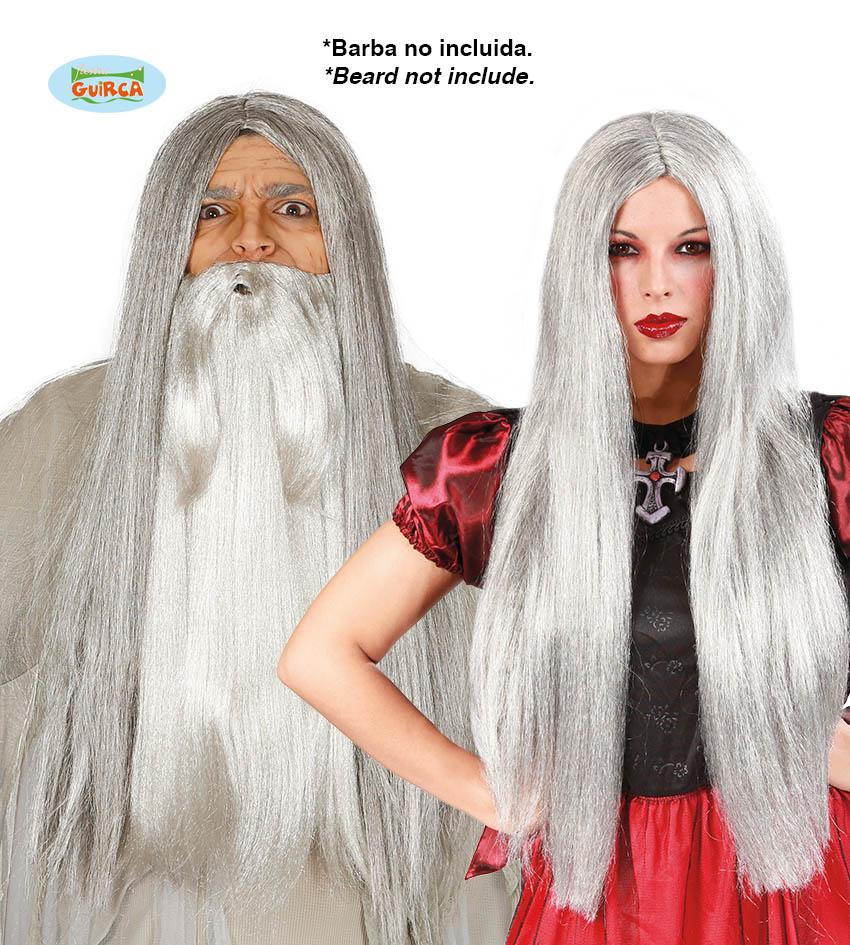 Long Wig Light Grey