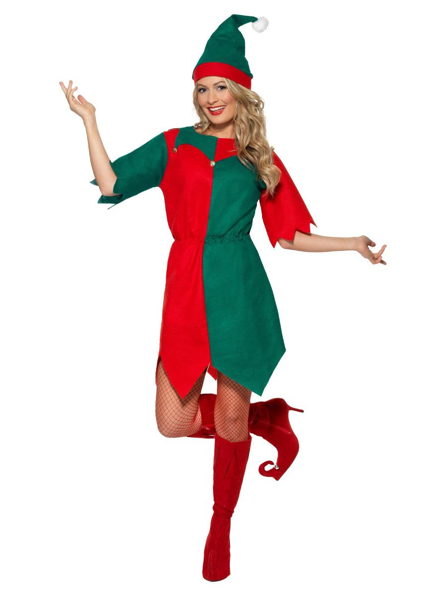 Elf Costume Tunic Red & Green
