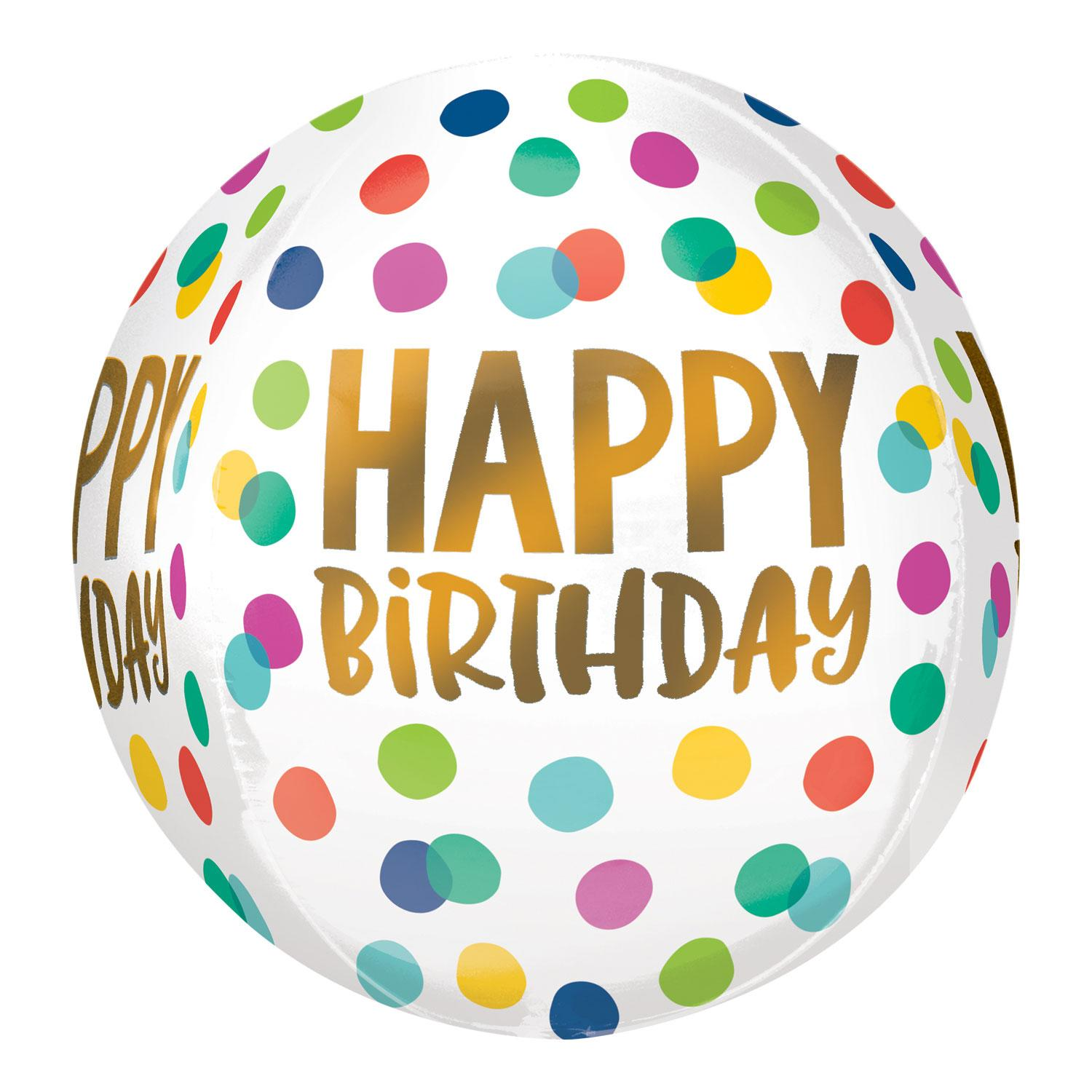 Orbz Foil Balloon Birthday Confetti Dots